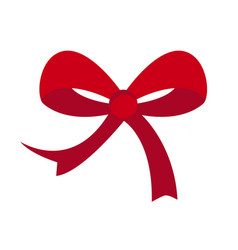 red bow on white background for graphic and web vector image