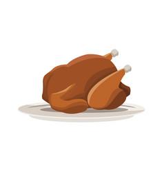 Roaster chicken icon vector
