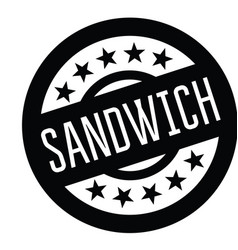 sandwiches stamp in french vector image