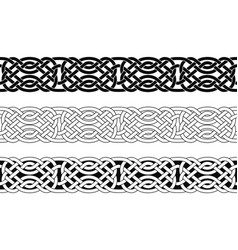 seamless celtic national ornament vector image
