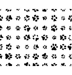 Seamless footprints cats vector