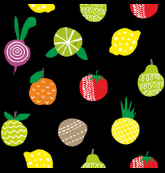 seamless wallpaper of healthy food isolated on vector image