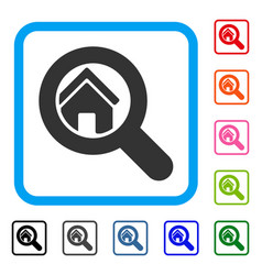 search house framed icon vector image