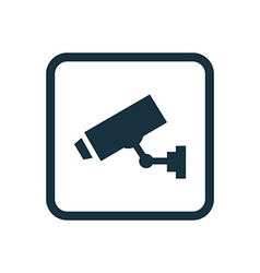 Security camera icon Rounded squares button vector