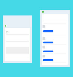 Simple user interface isolated vector