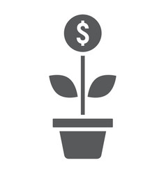 successful investment glyph icon development vector image