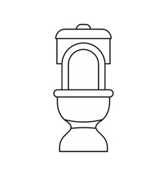 Toilet bowl icon outline style vector