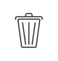 trash icon line delete symbol vector image