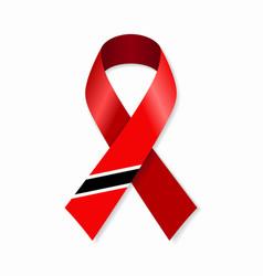 trinidad and tobago flag stripe ribbon on white vector image