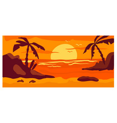 Tropical view landscape hot country wild beach vector