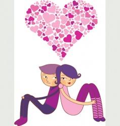 Valentines couple vector