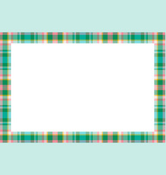 Vintage frame scottish border pattern retro vector