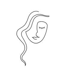 Woman continuous line art 1 vector