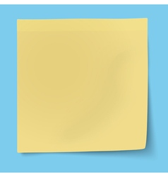 Yellow sticky note isolated vector image
