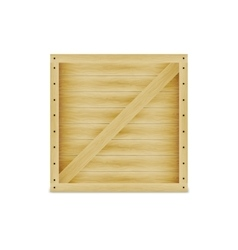 a closed wooden box vector image vector image