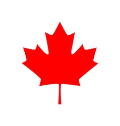 Canadian maple leaf icon vector image vector image