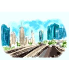 Dubai centr skyline vector