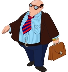 Fat Bald Boss vector image vector image