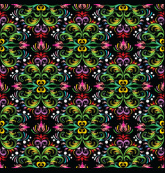 floral damask seamless pattern bright baroque vector image