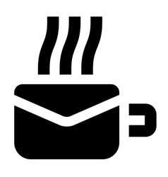 Morning mail icon vector image vector image