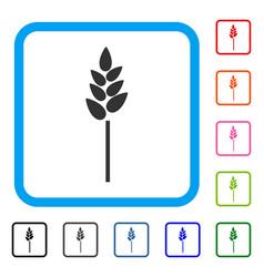 Wheat ear framed icon vector