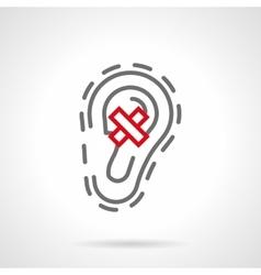 Ear diseases gray line icon vector image vector image