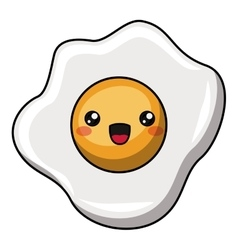 Egg with kawaii face design vector image vector image
