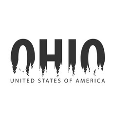 ohio usa united states of america text or vector image vector image