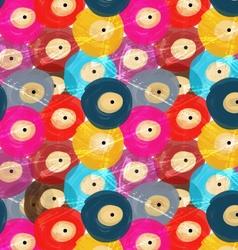 Rough brush colorful vinyl discs vector image vector image