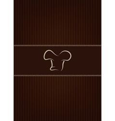 Brown restaurant menu cover vector image vector image