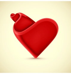 Isolated heart vector image