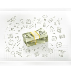 Money business infographics vector image vector image