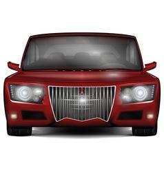 Red concept car No trademark vector image vector image