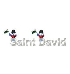 Saint David vector image vector image
