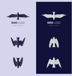 bird emblem vector image