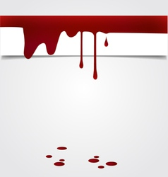 Blood dripping on paper blood background vector image vector image
