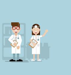 doctor flat design cartoon character vector image