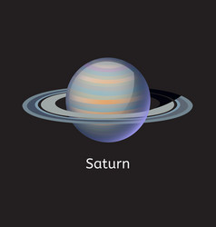 high quality space planet galaxy astronomy saturn vector image