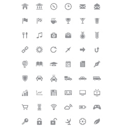 Icons and pictograms set vector image vector image