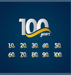 100 years anniversary celebration elegant white vector