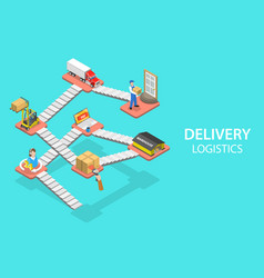3d isometric flat concept delivery vector image