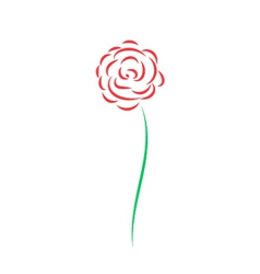 Abstract painted rose vector