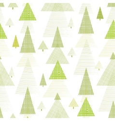 Abstract pine tree forest seamless pattern vector image