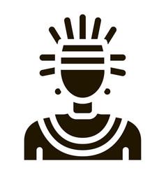 Aztec shaman icon glyph vector