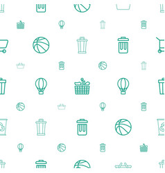 Basket icons pattern seamless white background vector