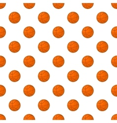 Basketball pattern cartoon style vector image
