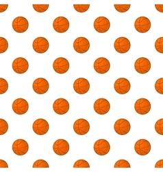 Basketball pattern cartoon style vector