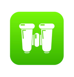 binoculars explorer icon green vector image