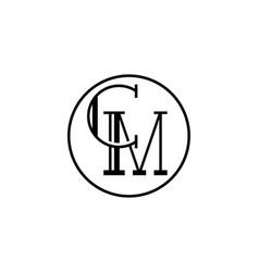C m letter logo alphabet design vector