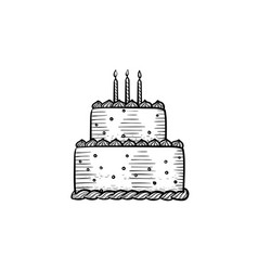 Candle cake head hand drawn outline doodle icon vector